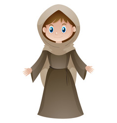 woman in brown medieval style costume vector image