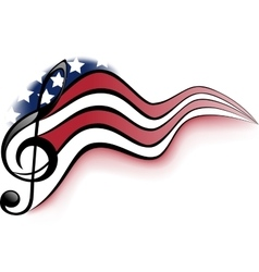 American Music Notes vector image vector image