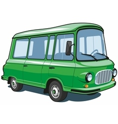 Cartoon green van vector image