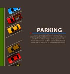 city parking web banner shortage parking vector image