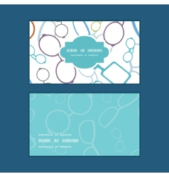 colorful glasses horizontal frame pattern business vector image vector image