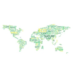 World map Eco Font set seamless pattern vector image vector image