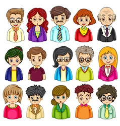 A group of people vector image