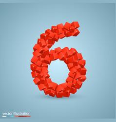 Cubes as a symbol font 6 vector