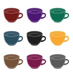 espresso coffeedifferent types of coffee single vector image