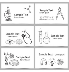 Set of Science Cards vector image vector image