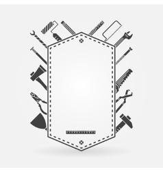 Tool shop concept label vector image vector image