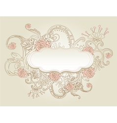 vintage style background with flowers vector image vector image