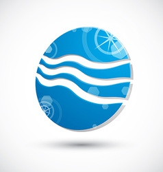 Wave water icon abstract icon 3d symbol vector image