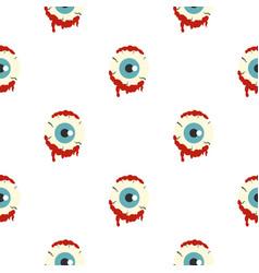 Zombie eyeball pattern seamless vector