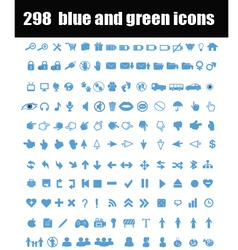 Blue and green icons vector image vector image