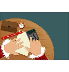 Christmas shopping list vector image vector image