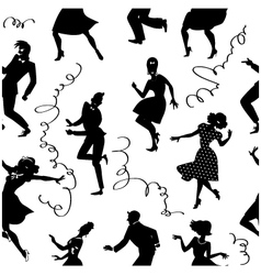 Dancing seamless pattern vector image vector image