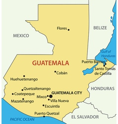Republic of Guatemala - map vector image