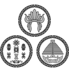 symbols of indians of latin america vector image vector image