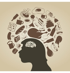 Thinks of meal vector image vector image