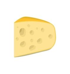 Triangular piece of cheese icon cartoon style vector image vector image