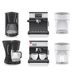 coffee maker 07 vector image vector image