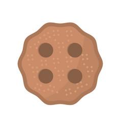 cookie dessert food image vector image