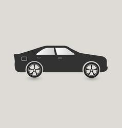 dark grey car icon vector image