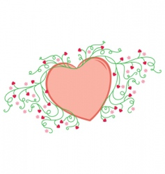 flowery love vector image