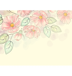 Watercolor floral ornament vector image vector image