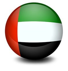 A ball with the flag of the United Arab Emirates vector image