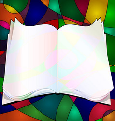 abstract colored image of the book vector image