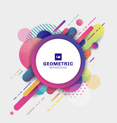 Abstract colorful geometric pattern composition vector