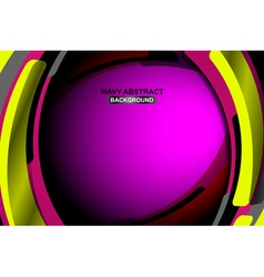 Abstract geometric wavy violet background vector