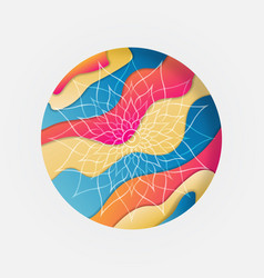 abstract mandala flower circle concept isolated vector image