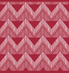 Abstract zig zag geometric tiled pattern fabric vector