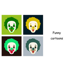 Assembly of flat icons on theme funny cheerful vector