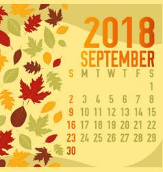 Autumn fall calendar months template vector