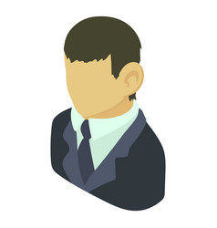 banker asian icon isometric 3d style vector image