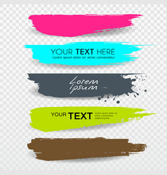 banners brush stroke tag label colorful vector image