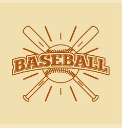 baseball vintage style monochrome label badge vector image