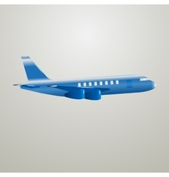 Blue aircraft vector
