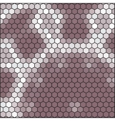 Brown gray honeycomb - abstract hexagon grid vector