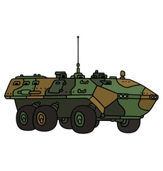 Camouflage troop carrier vector image