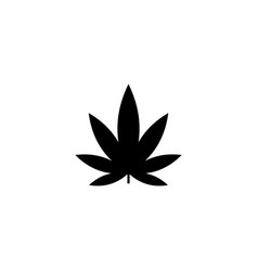 cannabis silhouette vector image
