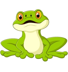 Cartoon cute frog vector