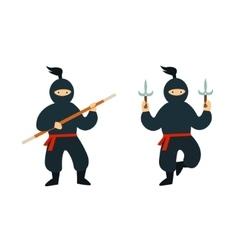 Cartoon Ninja Set vector image