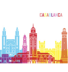 casablanca skyline pop vector image
