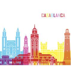 Casablanca skyline pop vector
