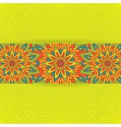 Circle flower mandala vector image