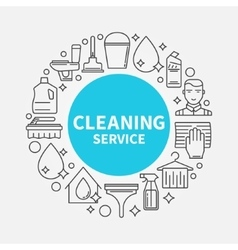 Cleaning service template vector