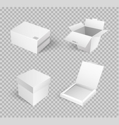 Closed parcel icons rectangular package box vector