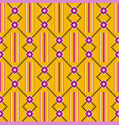 Cloth kentegeometric seamless pattern vector