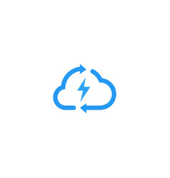 cloud charger charging rotate recycle arrow spark vector image